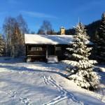 Hytta på tidleg vinter